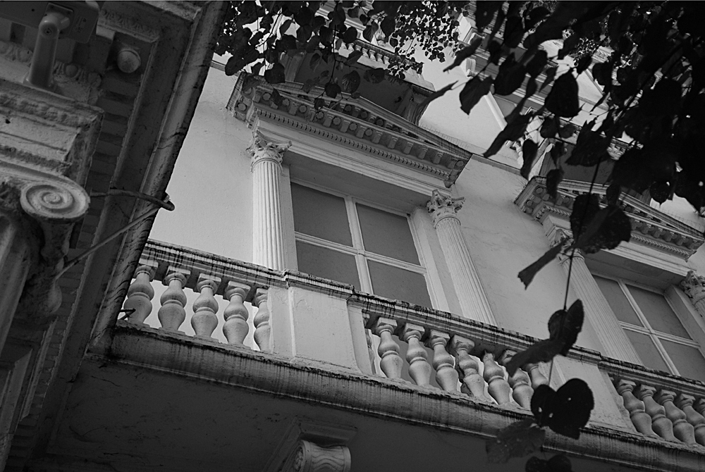 Existing false facade with painted false windows