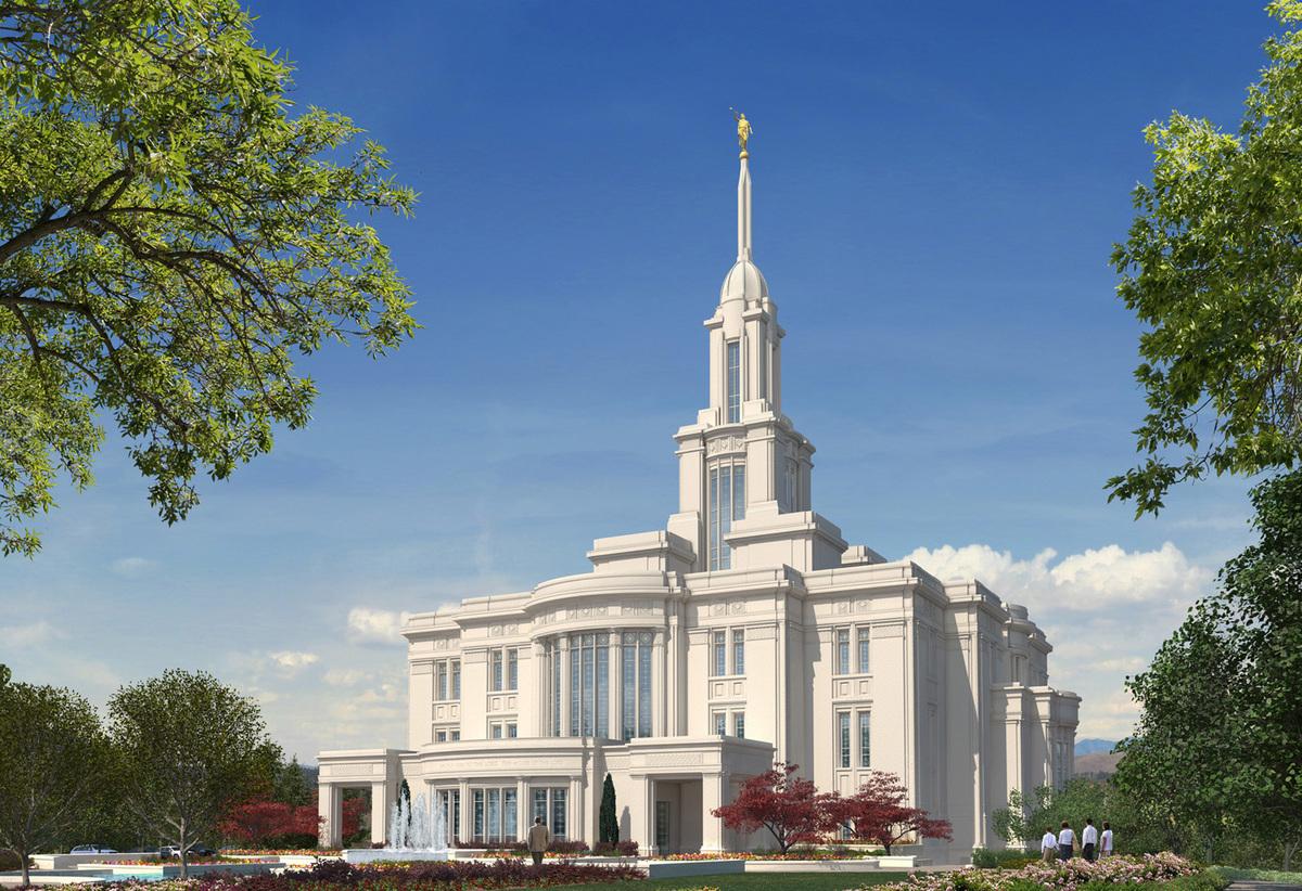 LDS Temple - Payson, Utah Exterior