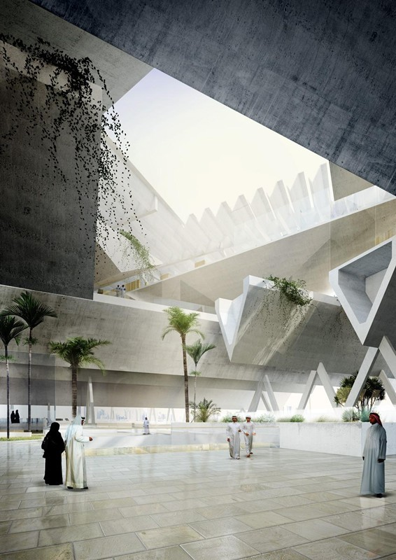 Qatar courthouse agi architects archinect for Architecture firms in qatar
