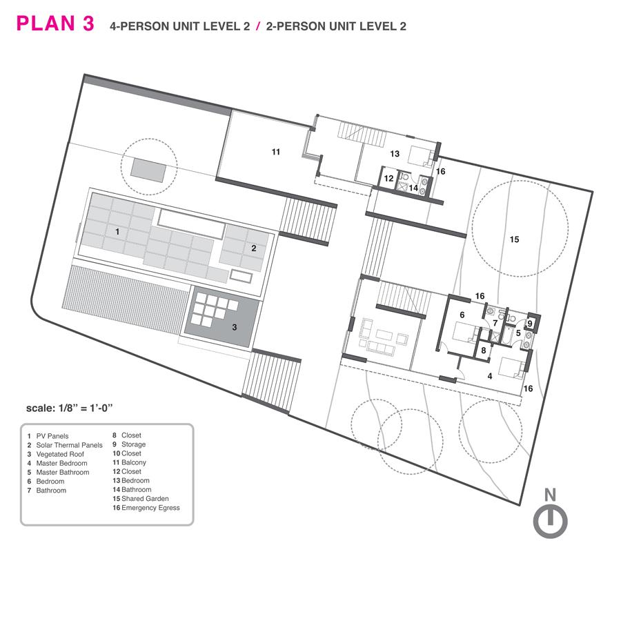 Top level floor plan