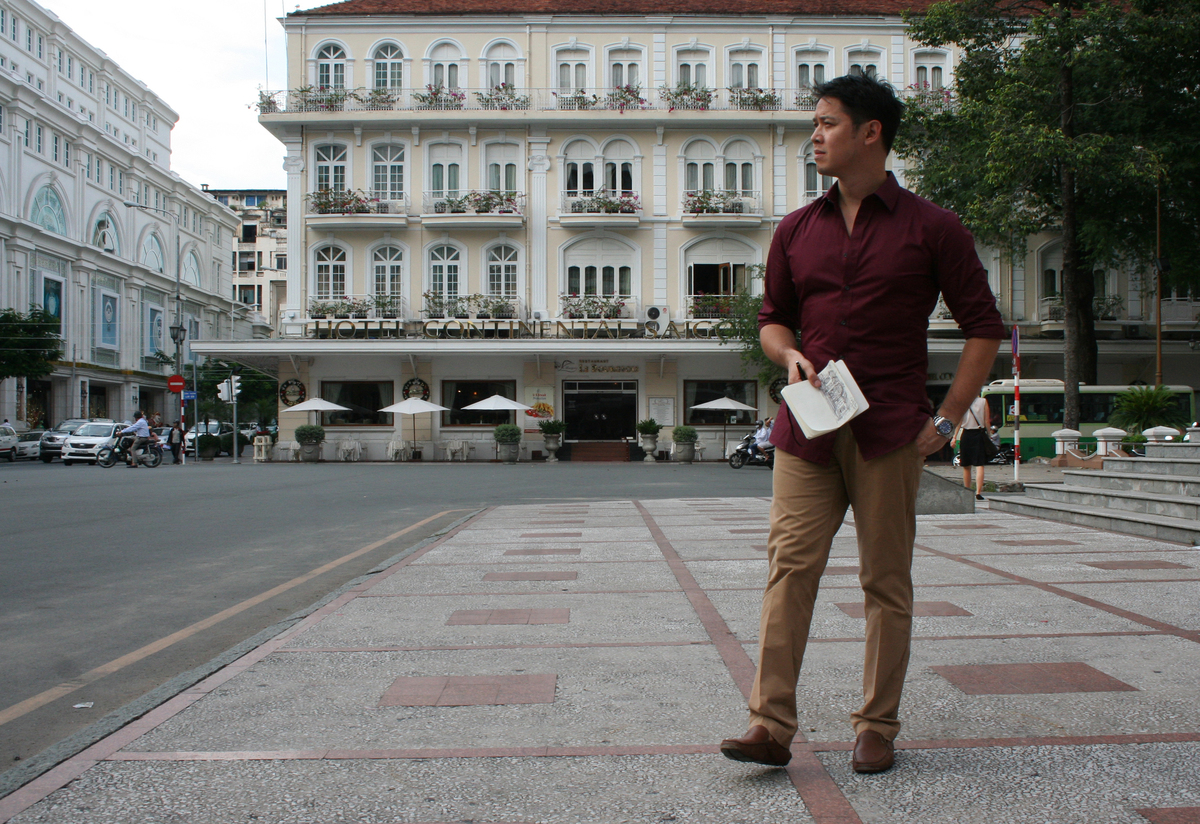 Pomeroy on Ho Chi Minh Street in Vietnam. Image courtesy of Pomeroy Studios.