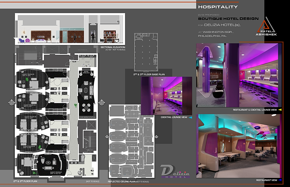 Hospitality boutique hotel design for delizia hotel s for Concept hotel boutique