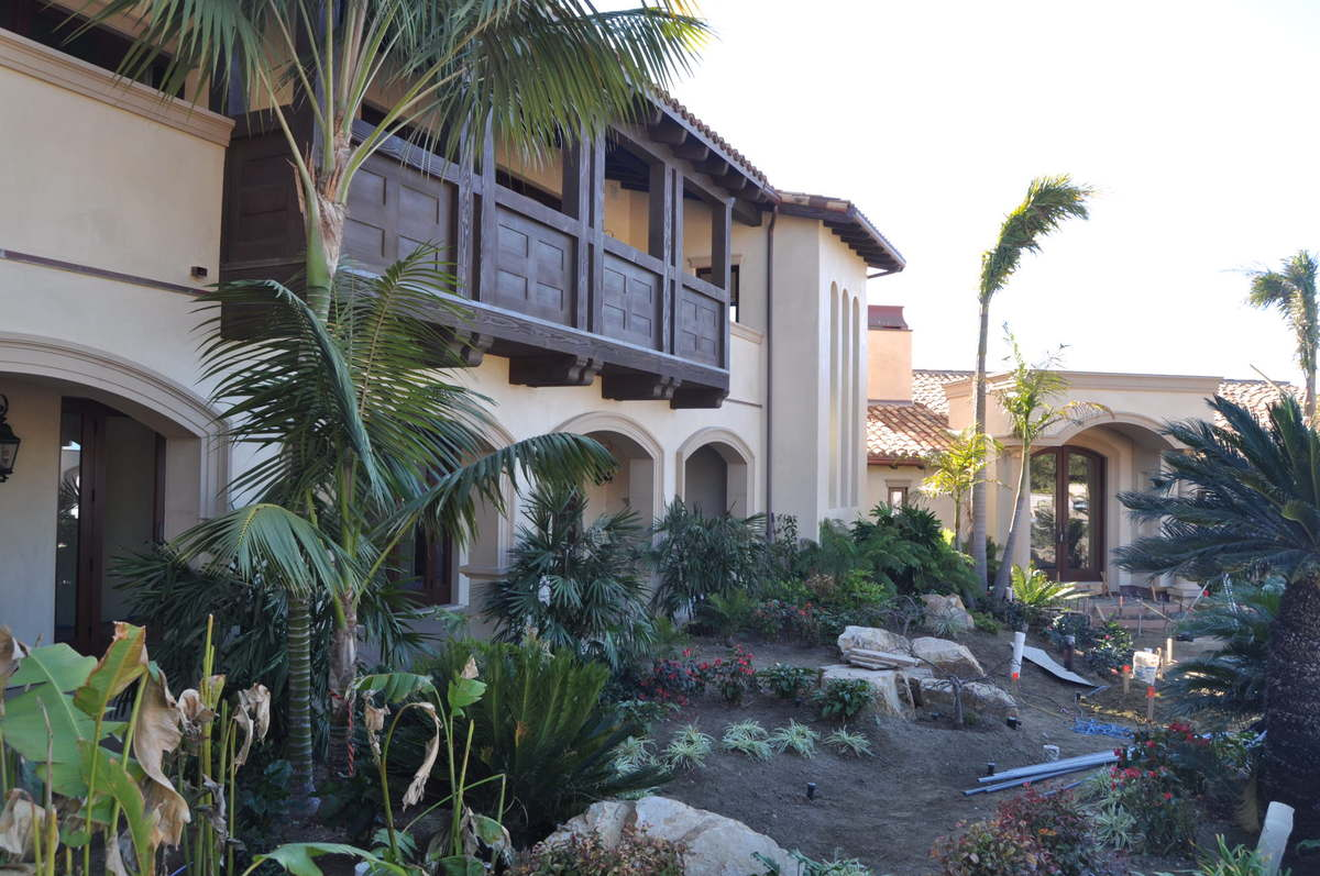 Courtyard of Main House - Completed Project