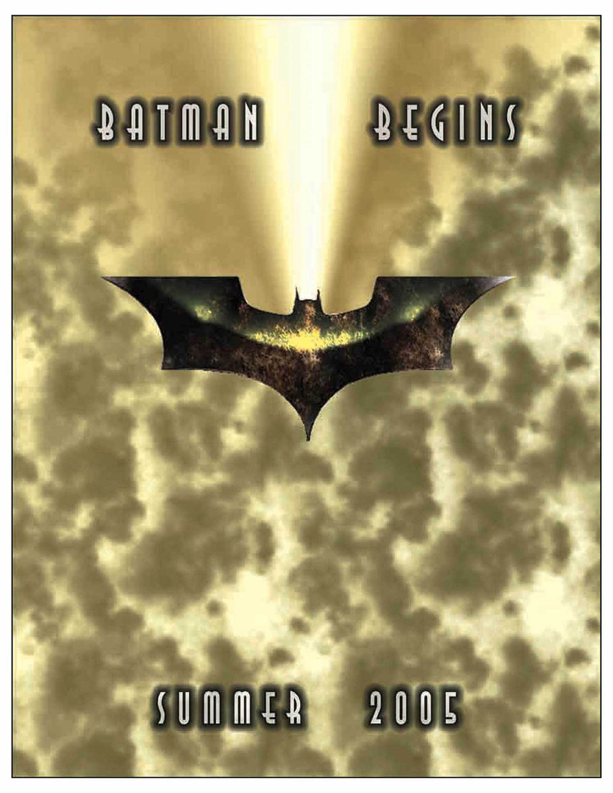 This piece is a movie poster for Batman Begins.