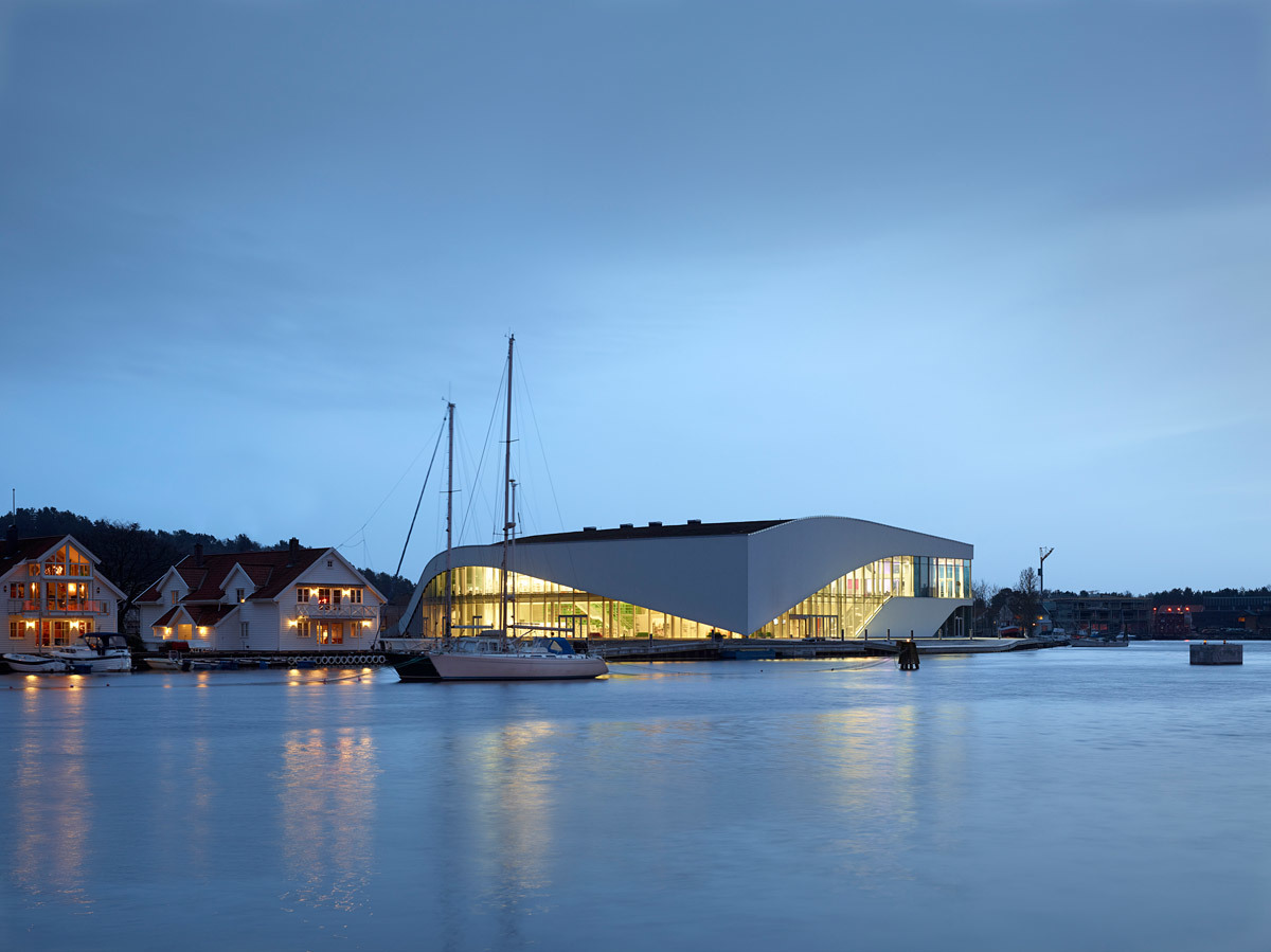 The new 3XN-designed The Arch cultural center in Mandal, Norway (Image: 3XN)