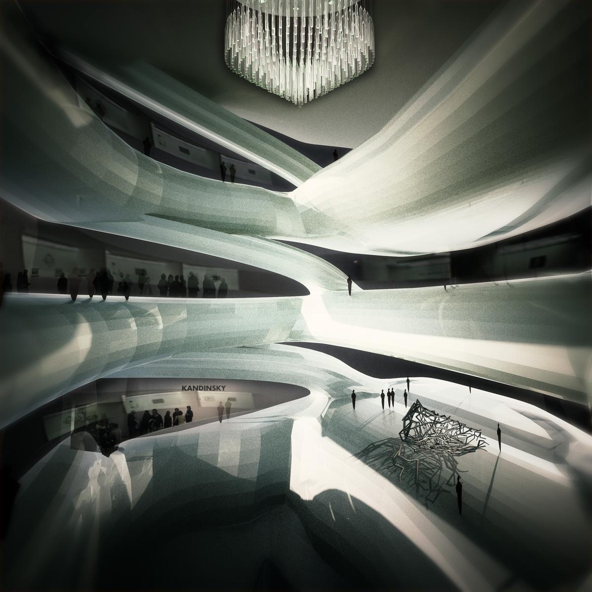Interior museum render