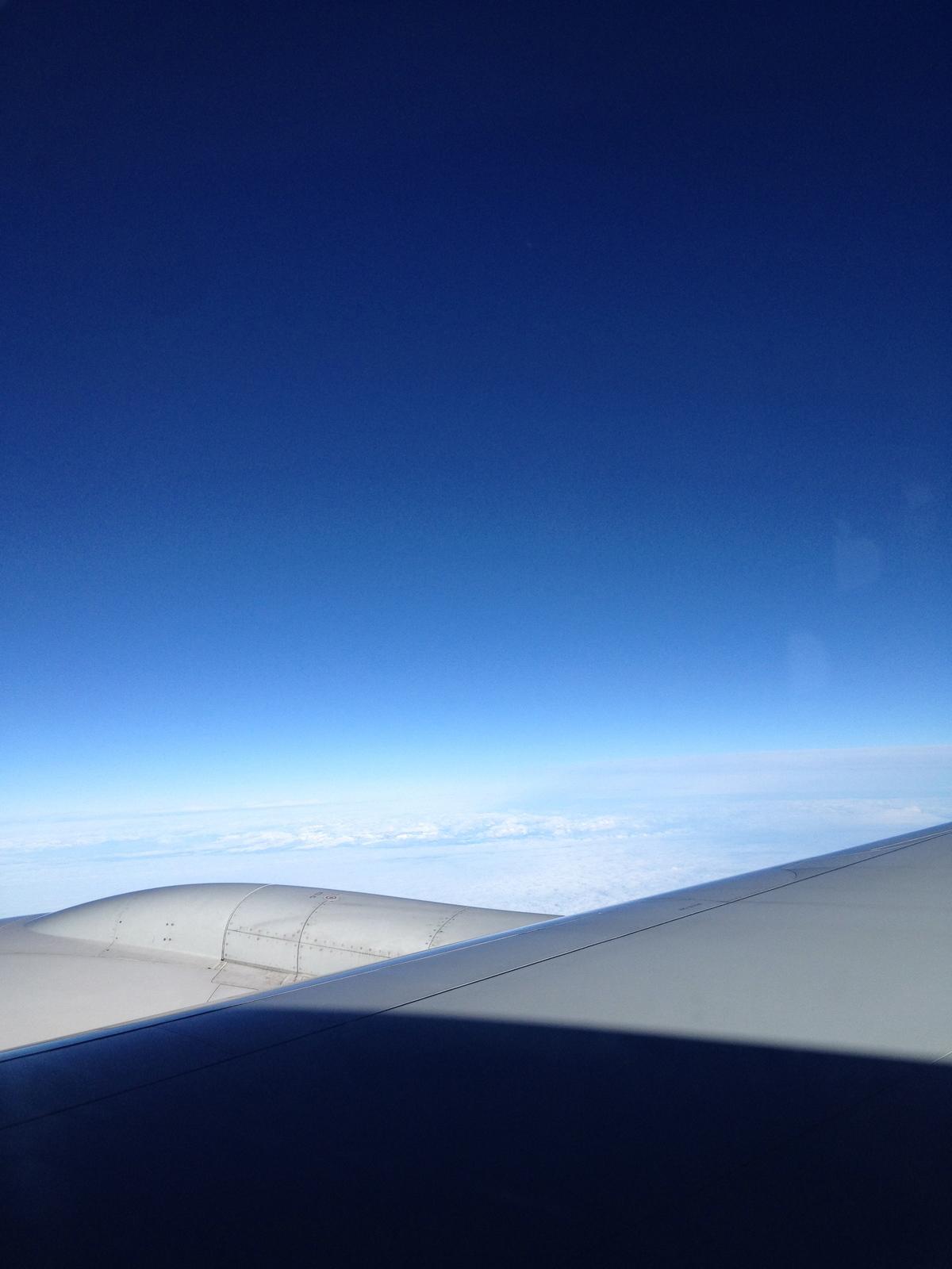 Greenland form Airplane Window