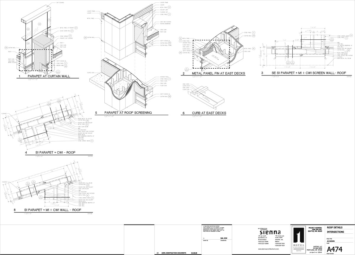 isometric construction document details I created for the hotel