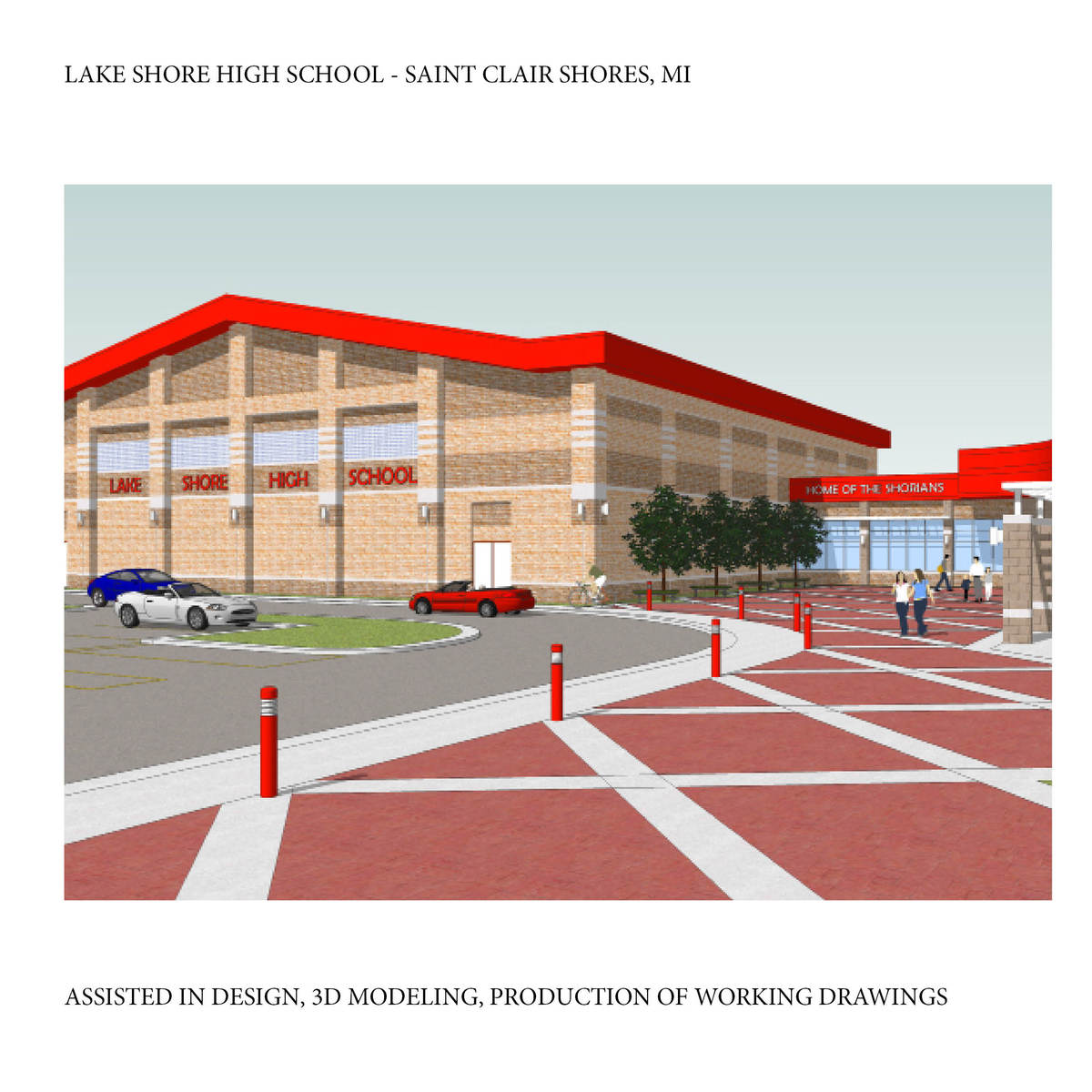 Gym and Commons Addition for Lake Shore High School, in St. Clair Shores, MI, This project is built.