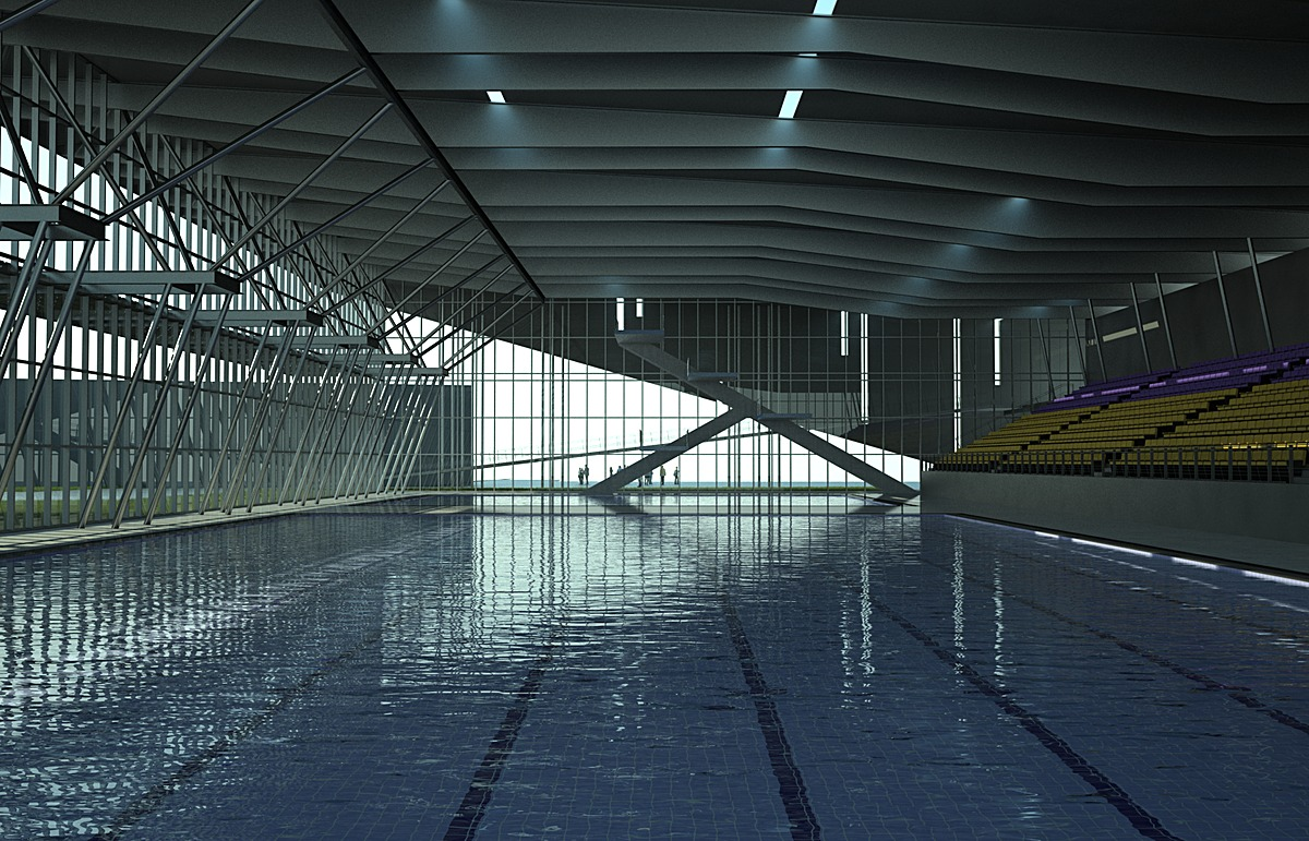 Olympic Pool And Gym Autonomous University Of Chihuahua Arturo Morales Archinect