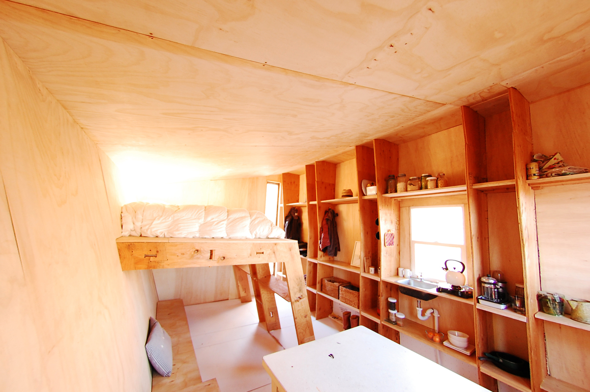 Interior of FOUNDhouse in Bluff. Photo credit: Lacy Williams and Patrick Beseda.