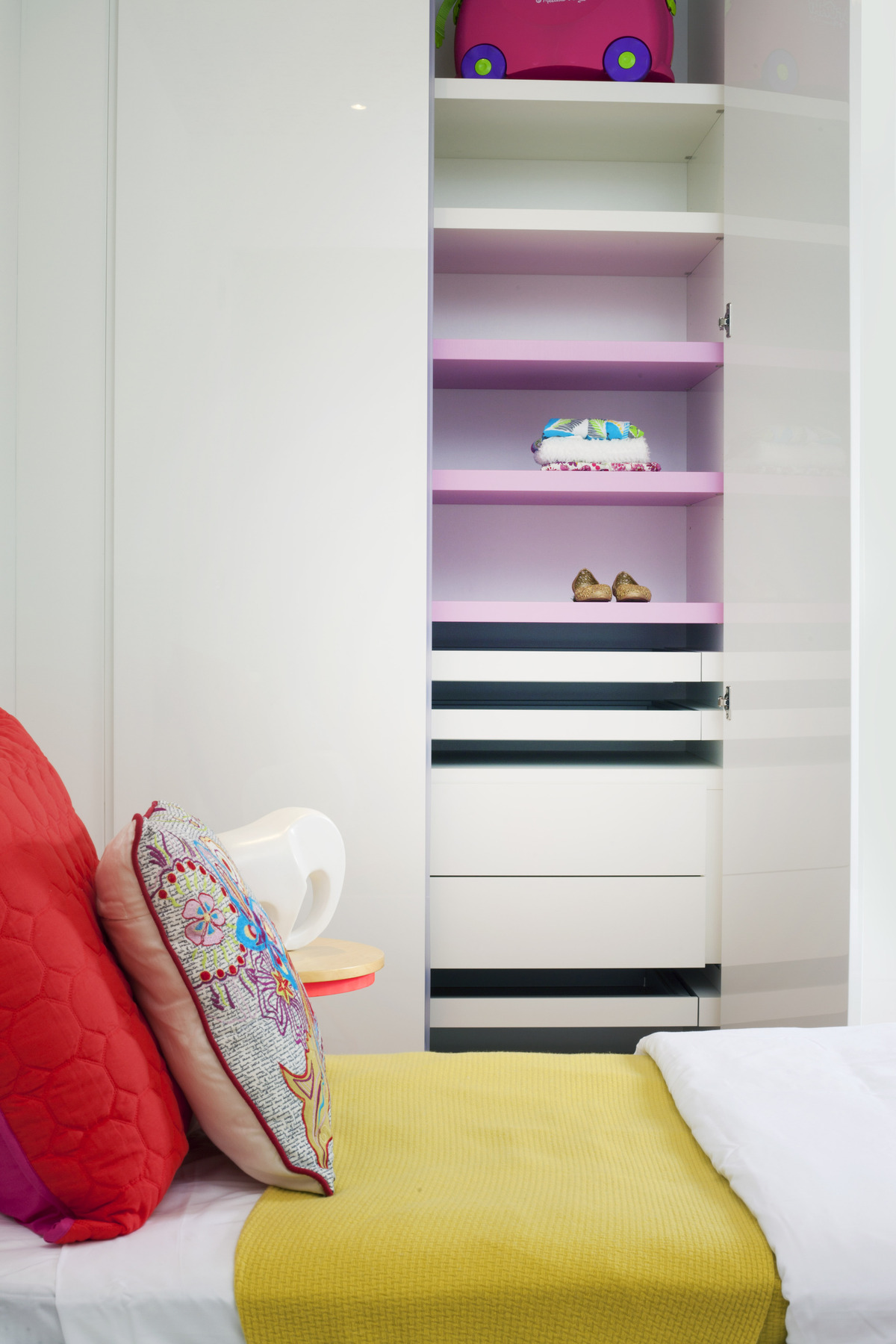 Children's Bedroom / Closet Detail - Miami Interior Design