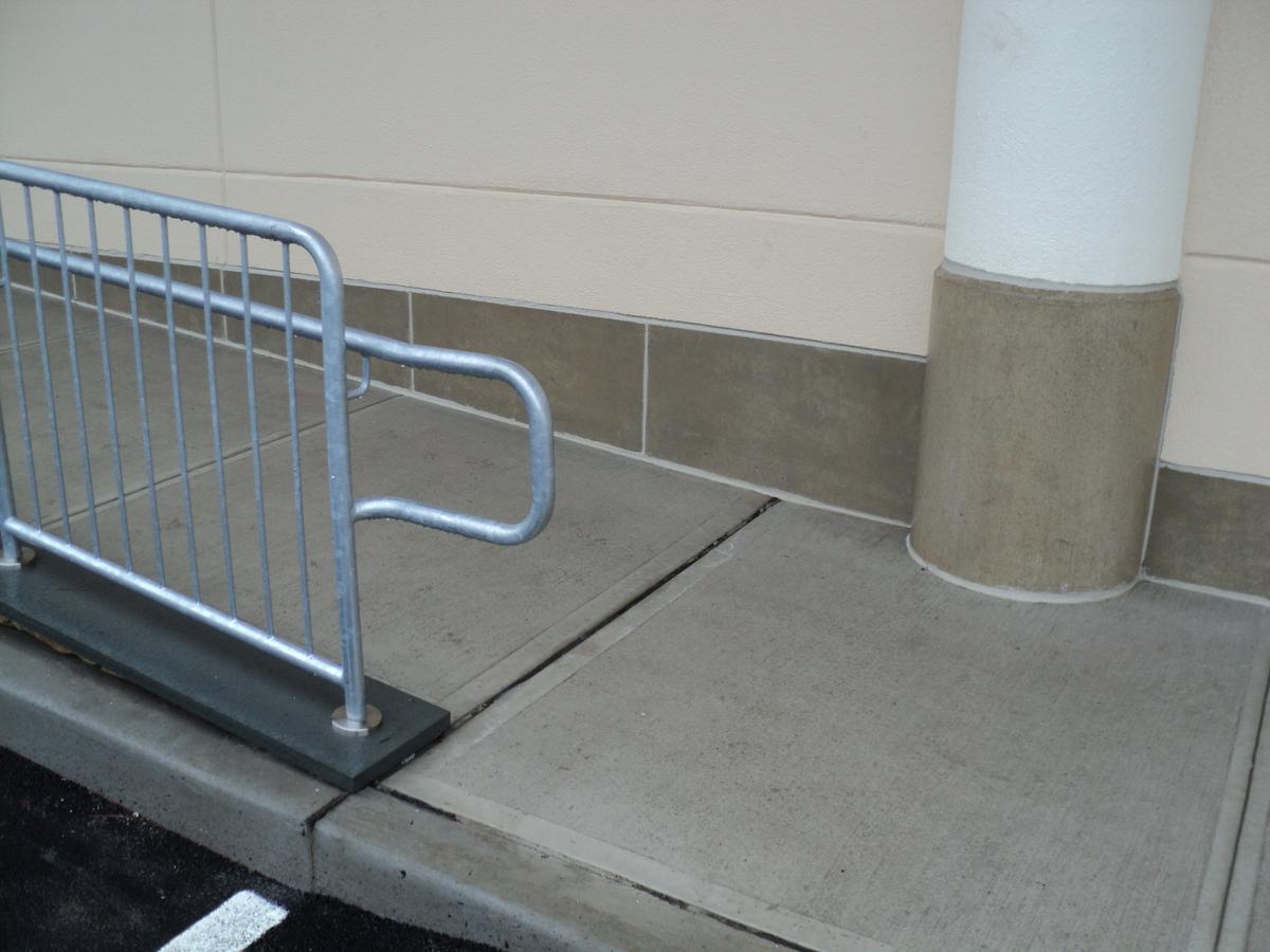 Railing, ramp and column/wall base