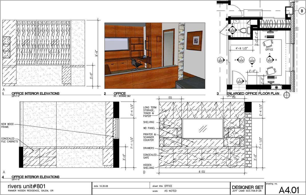 CAD sheet created for office