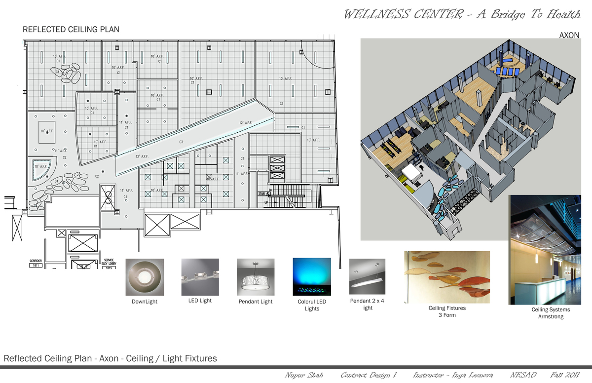 Reflected Ceiling Plan- Axon- Ceiling Fixtures
