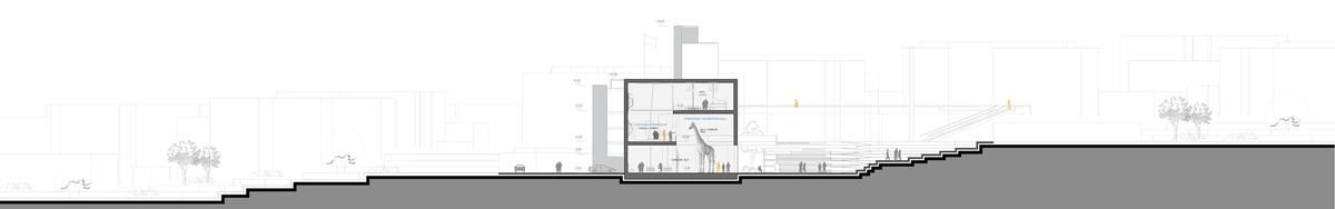 022 – SECTION B-B | 1/200 - Image Courtesy of ONZ Architects