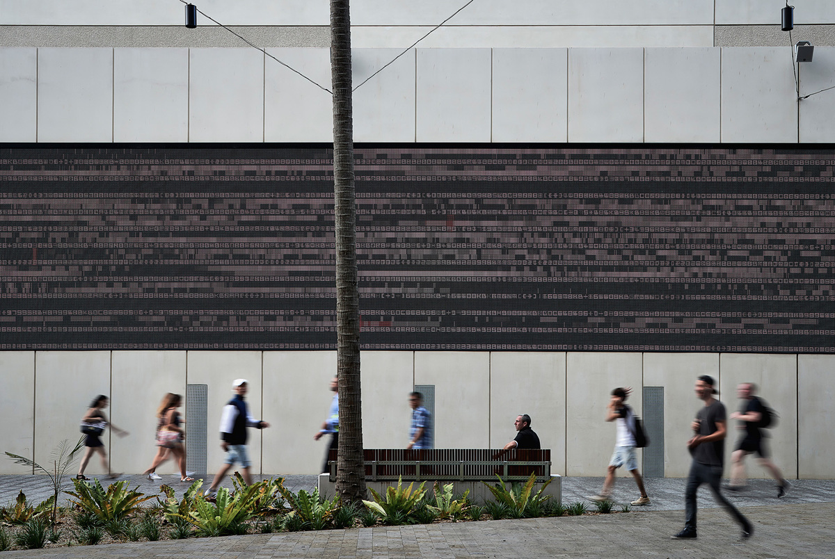 data.scape by Ryoji Ikeda. Photo by Mark Skye.