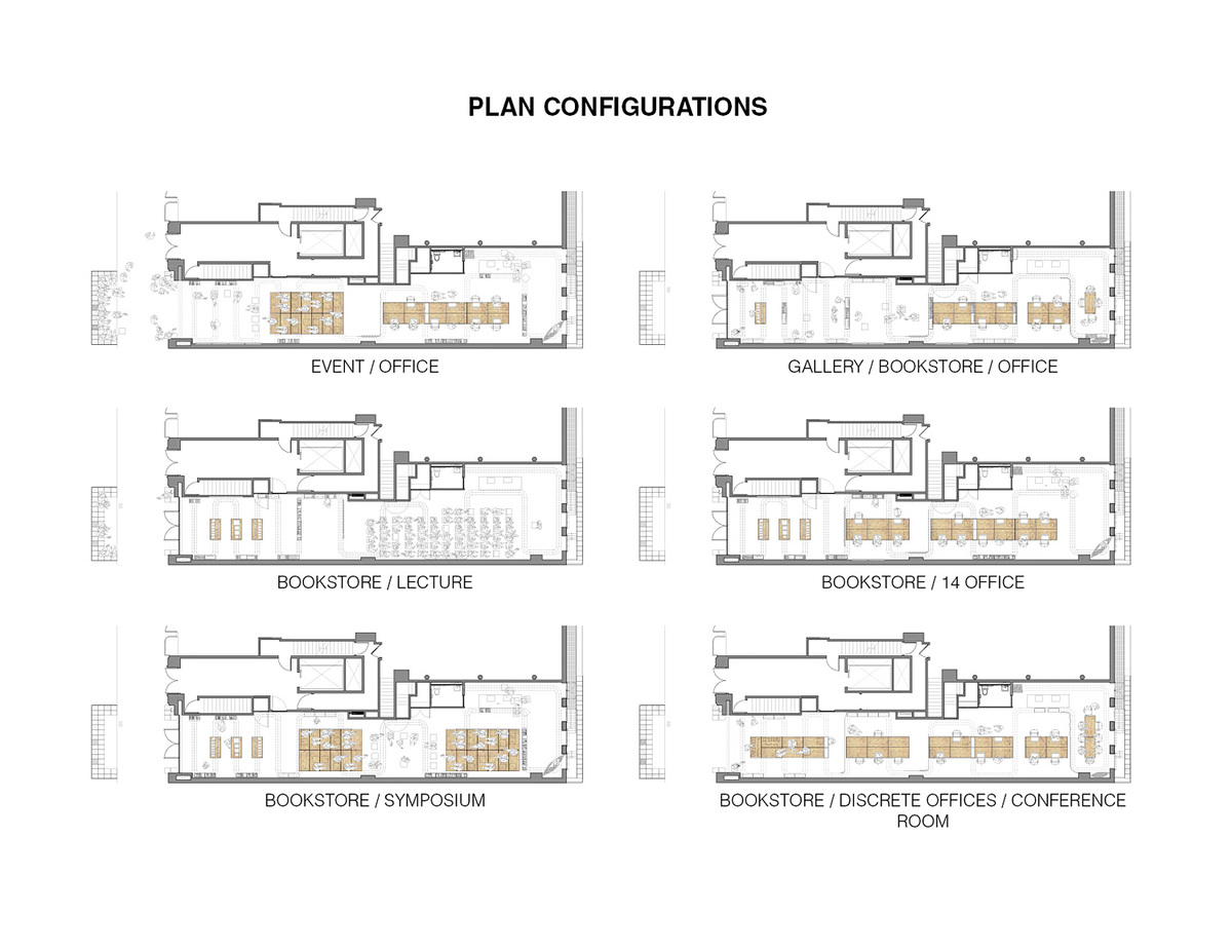 Plan Configurations. Ground/Work Competition Finalist Entry by Of Possible Architectures Image courtesy of OPA.