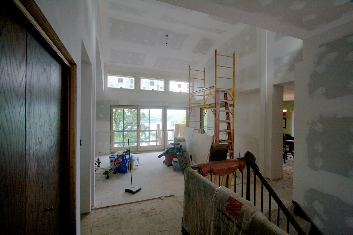 Foyer During construction