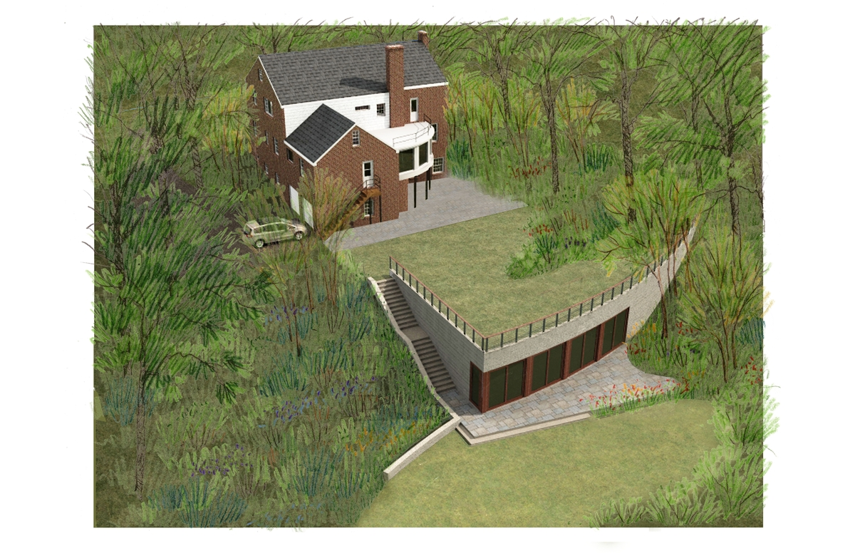 Proposed Pool House, Aerial View