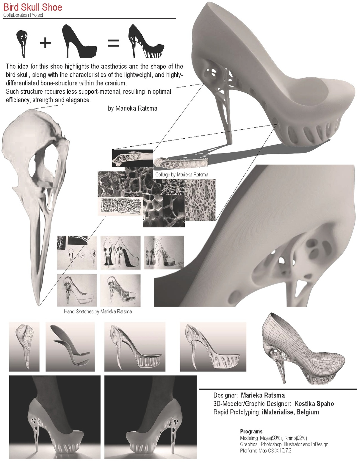 Biomimicry shoe kostika spaho archinect for Architecture organique