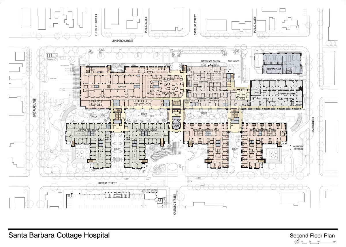 Santa barbara cottage hospital replacement hospital for Floor plan cottage