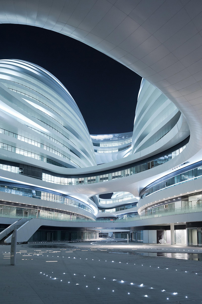 Galaxy Soho, Beijing, China by Zaha Hadid (Photo: Iwan Baan)
