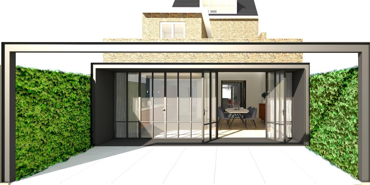 Renovatie uitbreiding jaren 30 woonhuis de nieuwe context archinect - Uitbreiding huis glas ...