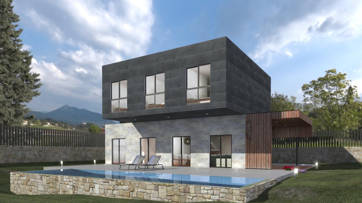 Casa prefabricada en espa a modelo 4c miguel martinez - Casa prefabricada valencia ...