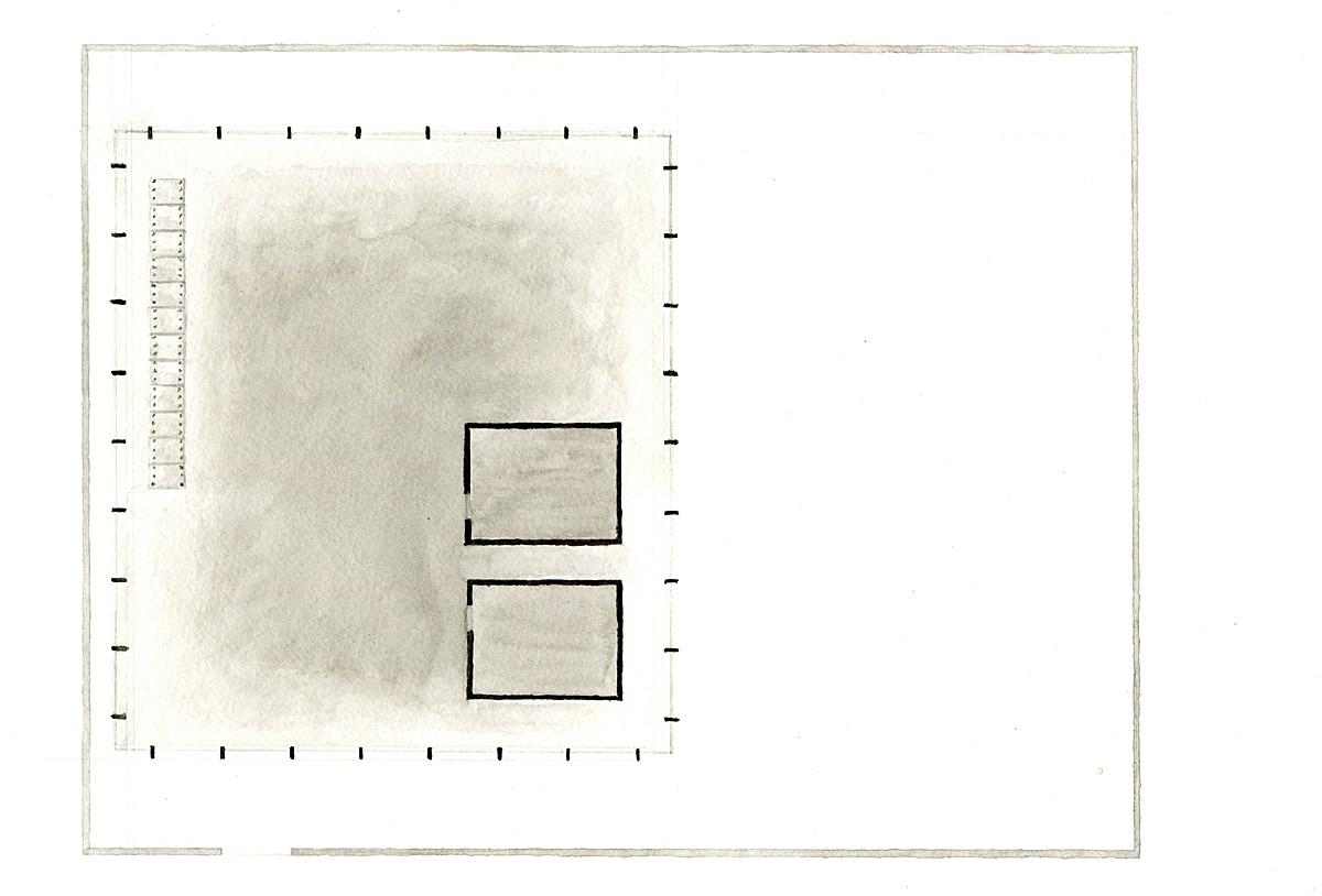 Floor plan, changing rooms