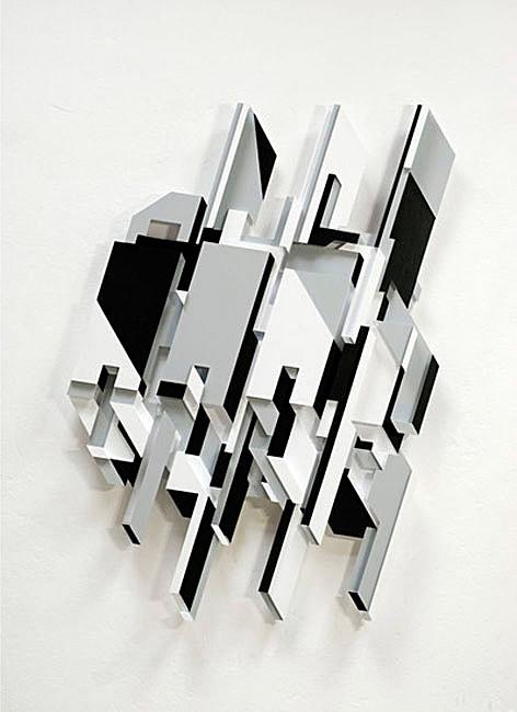 Delta, three-dimensional graffiti relief