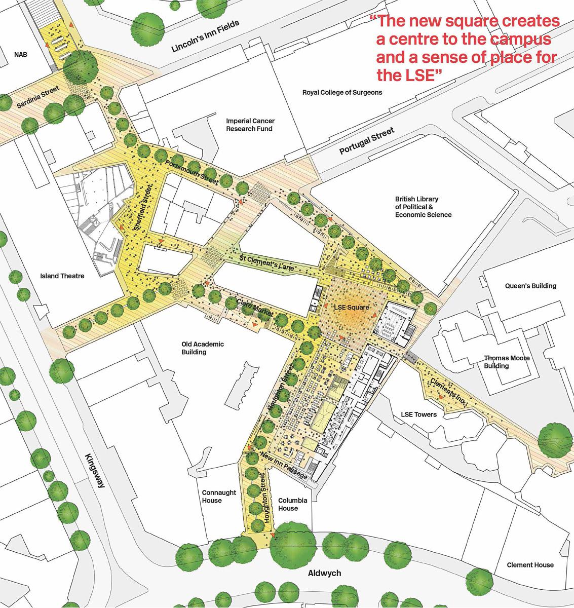 Ground floor campus plan.