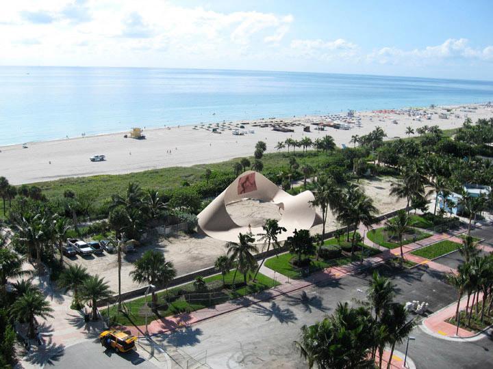 Christian Wassman: Endless Wave pavilion, entry for Art Basel Miami Beach, Creative Time