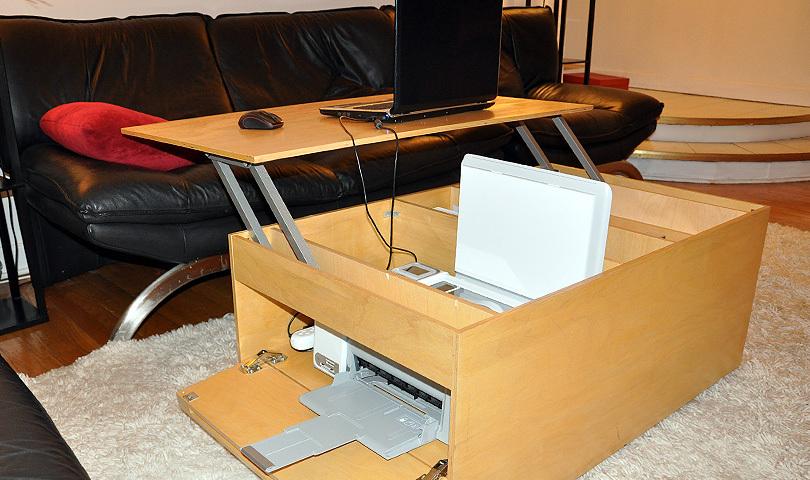 Work desk + laptop + printer/scanner/copier