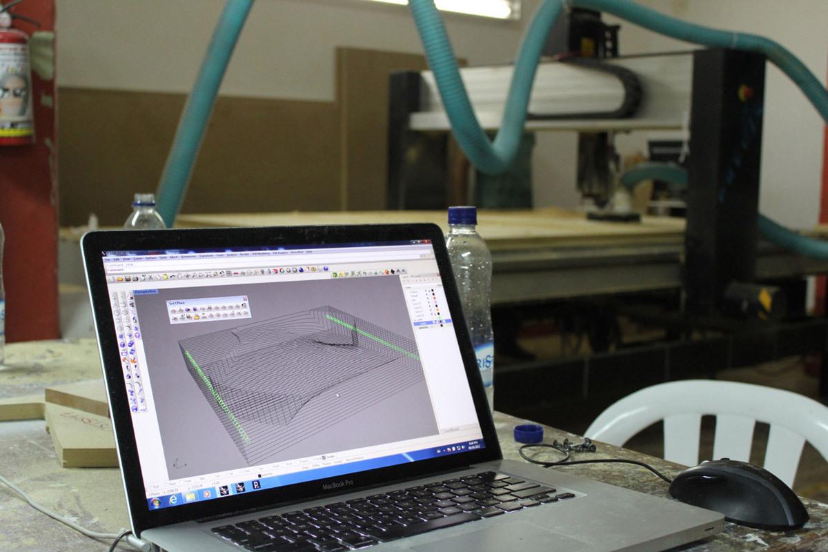 At fabrication facility