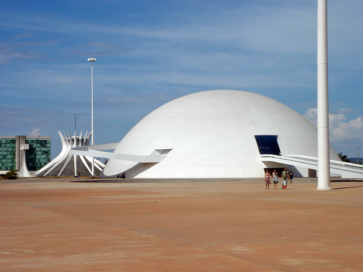 Brazilian National Museum, Brasília, inaugurated at the opening of Brasília in 1960