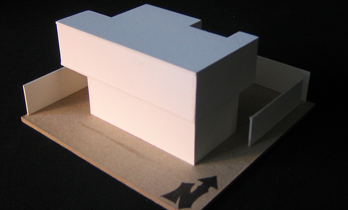Study Model 1 | materials: museumboard and chipboard base