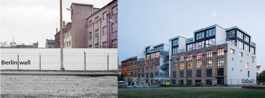 The site of Factory Berlin, before and after. Credit: Julian Breinersdorfer Architecture