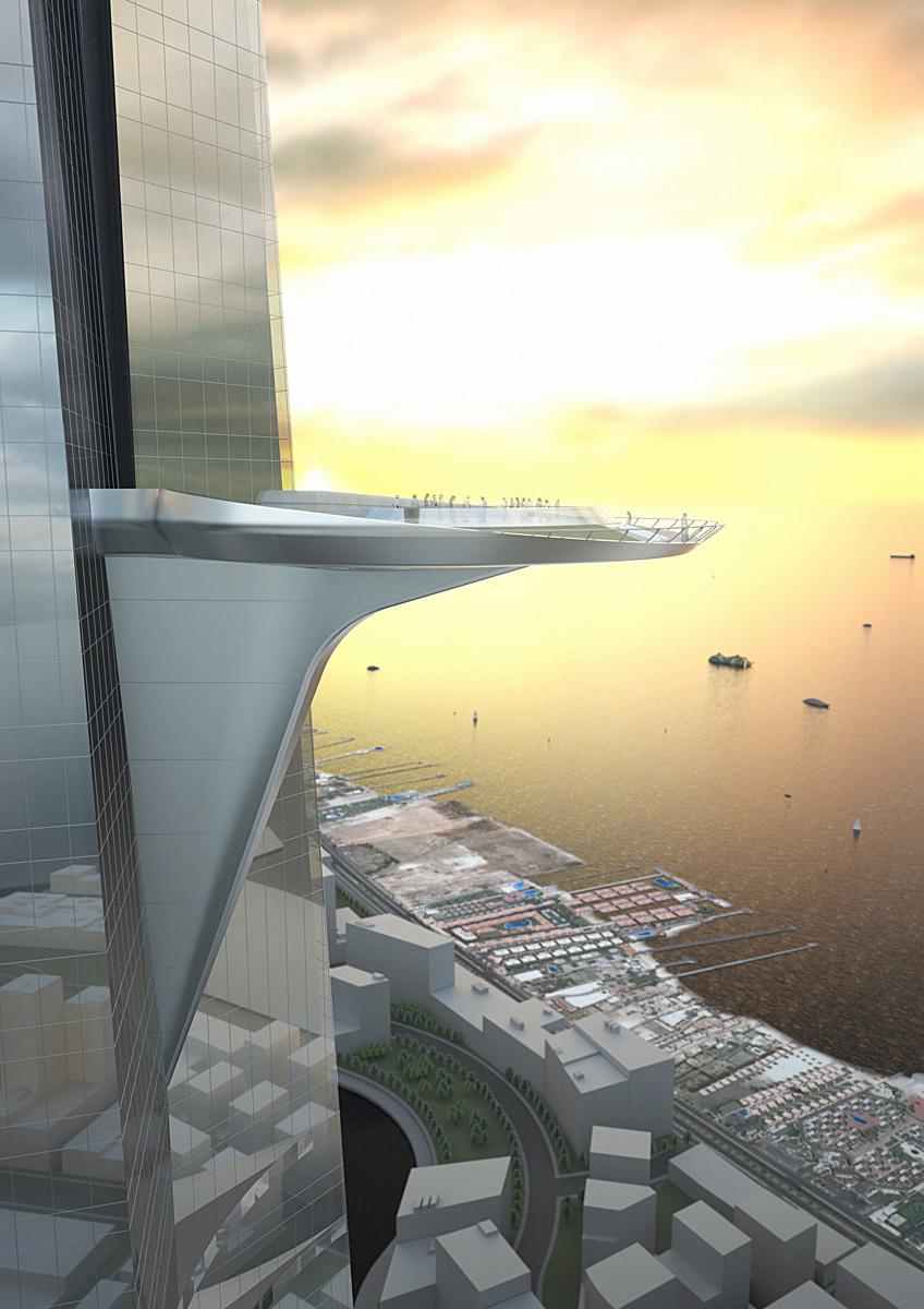 Sky terrace (Image: Adrian Smith + Gordon Gill Architecture)