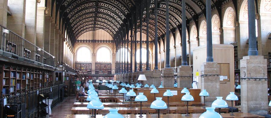 Reading Room Bibliothèque Sainte-Geneviève, Paris, France