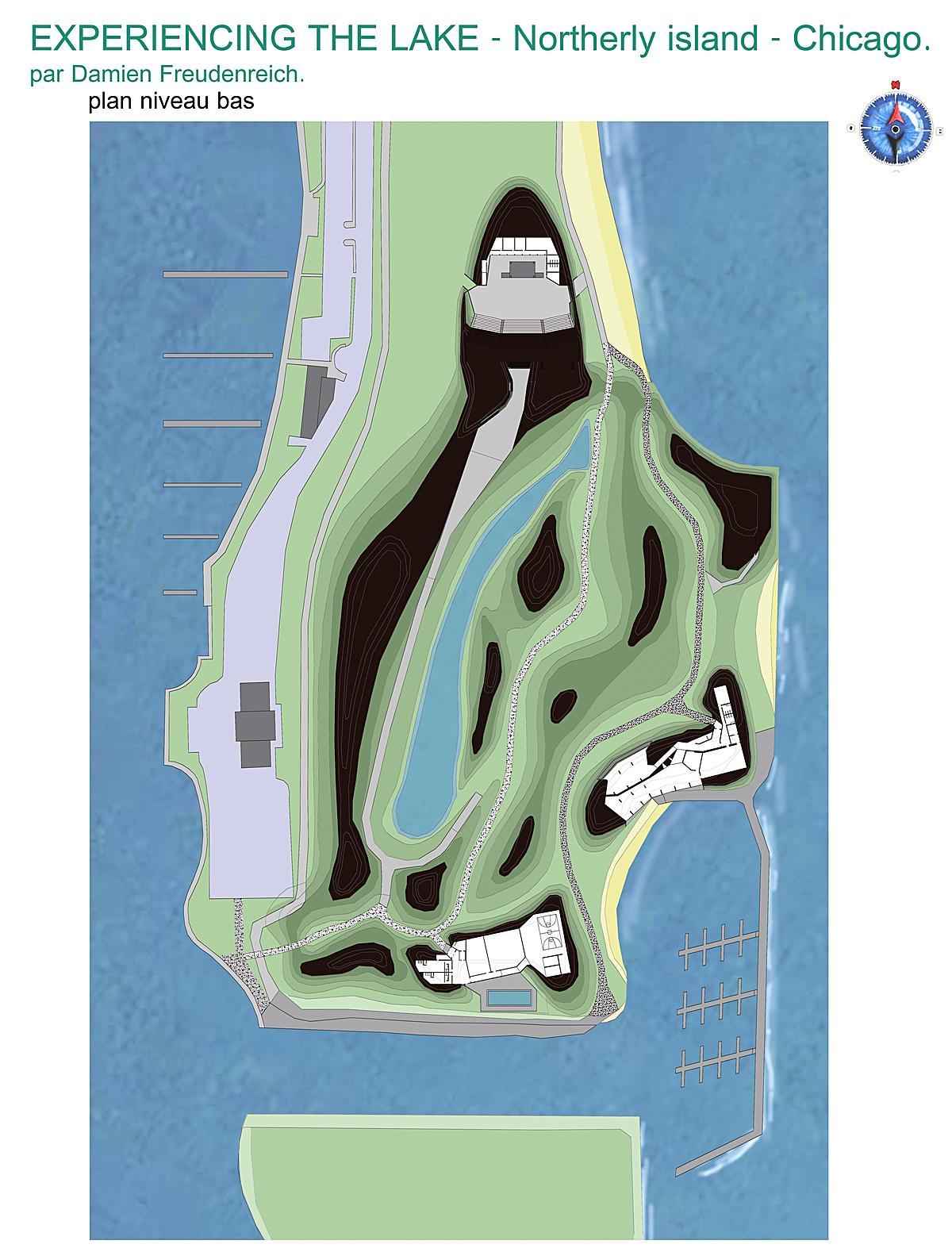 fitness, restaurant, harbor, outdoor concert hall, beach, etc...