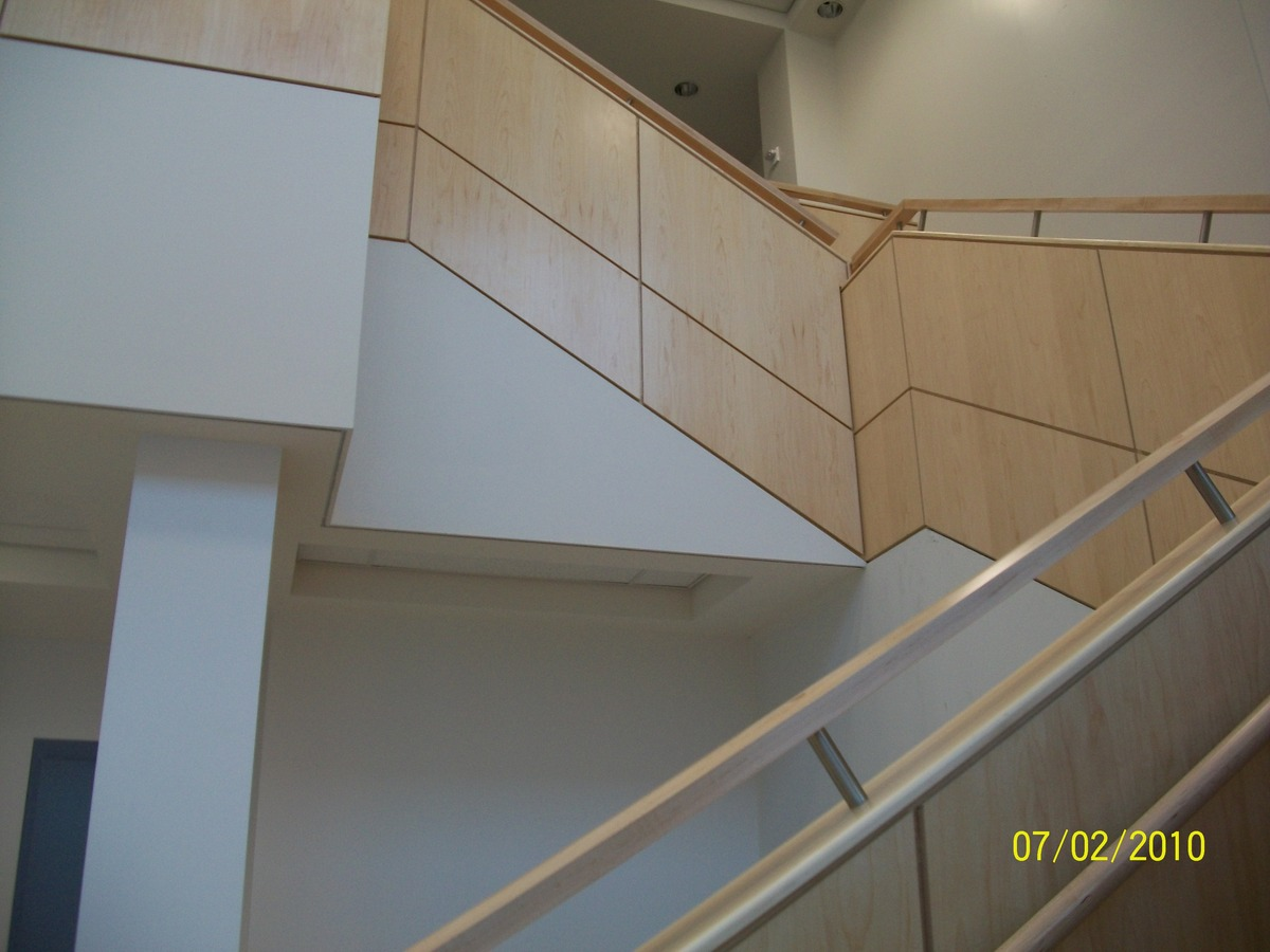 Image 3 of Public Entry staircase; finishing of stair railing