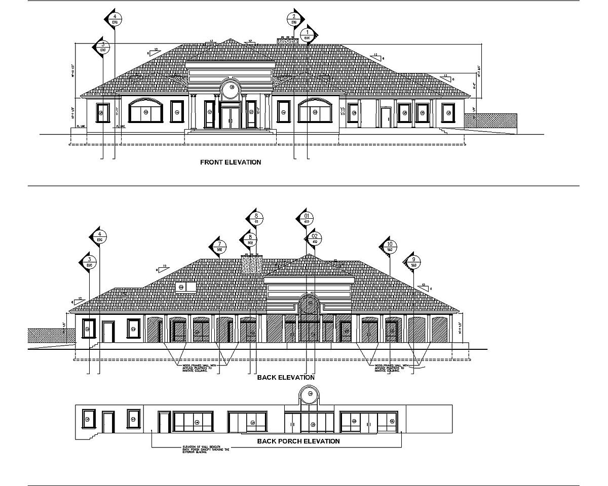 This is the houses front and back elevations.