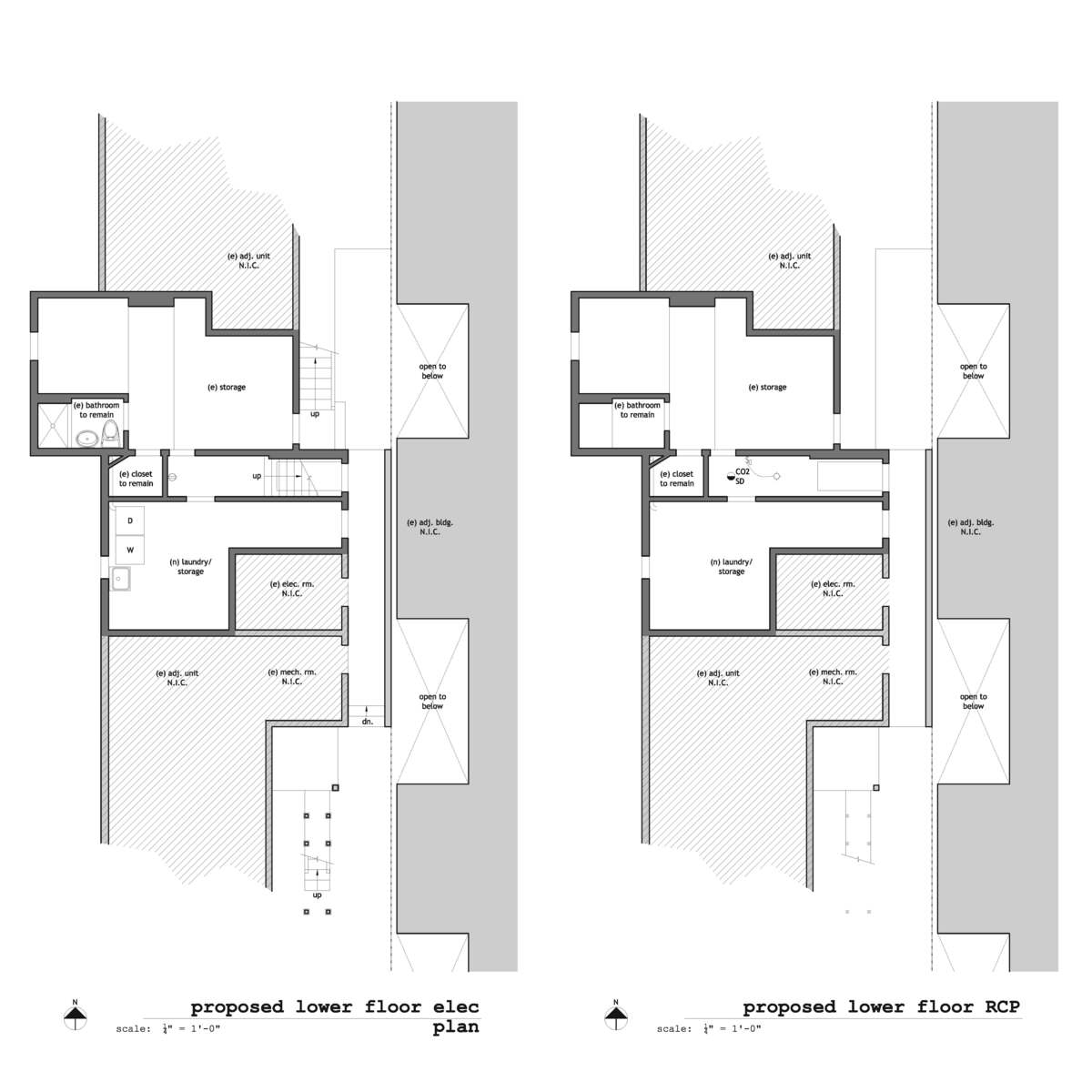 Existing & Proposed Lower Floor RCP