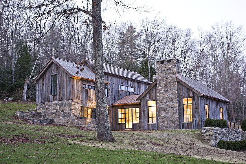 Connecticut house in the woods jendretzki tittman for Modern house in the woods