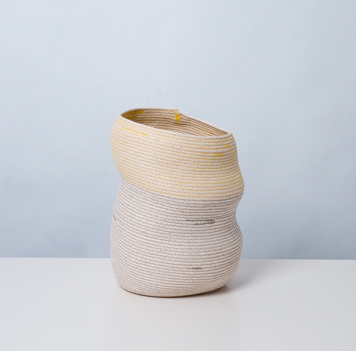 Asymmetrical Basket No.2, 2012, stitched cotton rope. Photo by Michael Popp