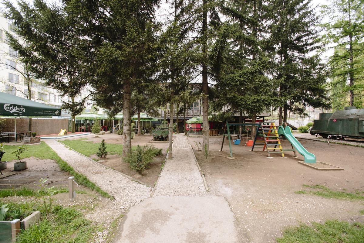 Playground and public space behind the Historical Museum, 2016. © Daniel Schwartz/U-TT at ETH