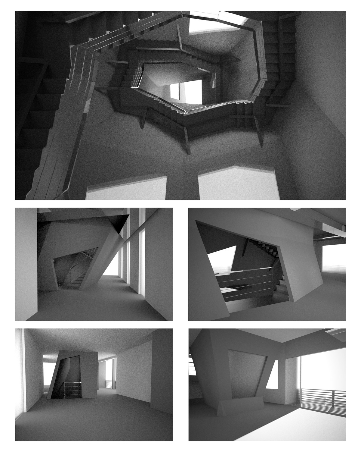 Views of the Vessel as visitors move through the building.