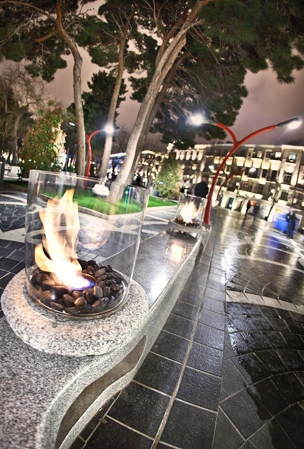Planika: Stone Commerce bio fireplace