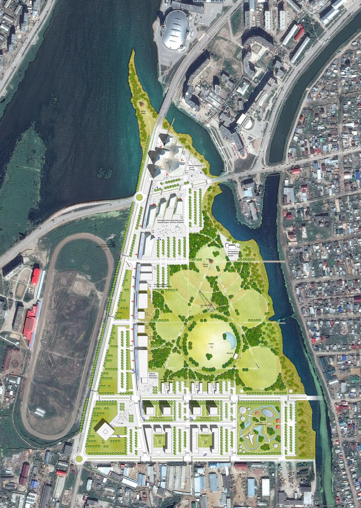 Urban plan Yakutsk